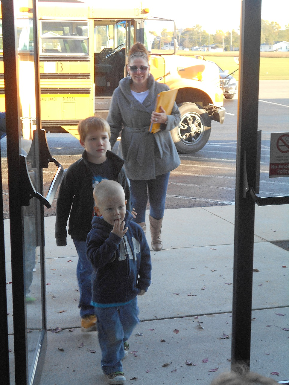 kids getting off bus 2